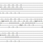 Guitar tab for I'm gonna put my name on your door